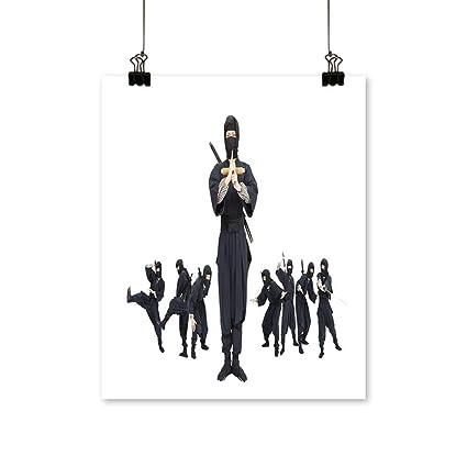 Amazon.com: Canvas Prints Wall Art an Image of A Ninja ...