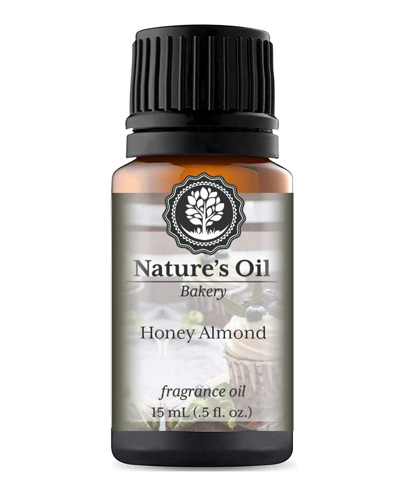 Honey Almond Fragrance Oil (15ml) For Diffusers, Soap Making, Candles, Lotion, Home Scents, Linen Spray, Bath Bombs, Slime
