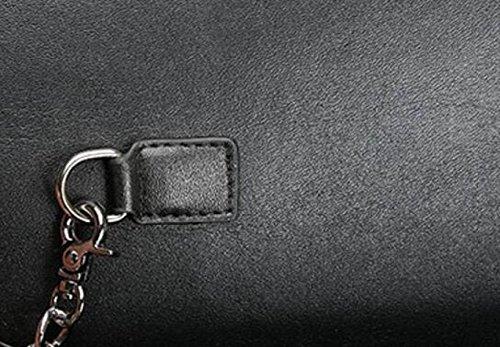 FZHLY Borse Estate Nuovo Cuoio Piccolo Di Modo Messenger Bag Agnello,Purple