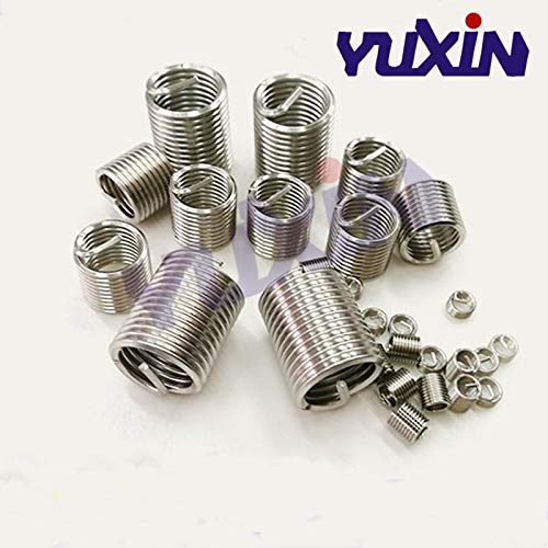 Ochoos 20Pcs M1422.5D Screw Thread Insert A2 Stainless Steel 304 Fasteners Repair Tools Kit Coiled Wire Helical Screw Sleeve Set