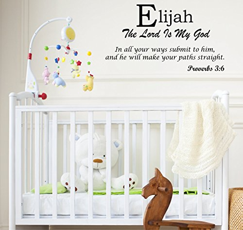 amazon com baby names wall decals displaying the meaning of names vinyl decal learn the elijah name meanings of baby girl names or boys