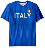 Outerstuff World Cup Soccer Italy Mens -Federation Jersey Short sleeve Tee, Royal, Medium