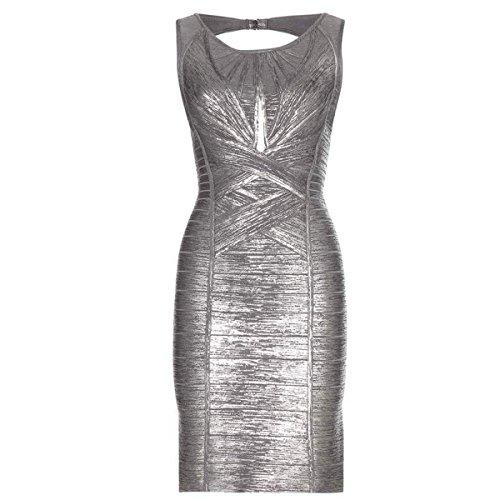 HLBCBG Grau Damen Grau Kleid Grau HLBCBG HLBCBG Grau Kleid Damen wWRP8Xqx8