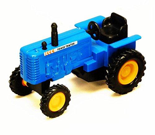 Showcasts Power Farm Tractor, Blue 2169D - 4 Inch Scale Diecast Model Replica, but NO BOX