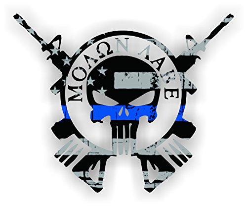 One (1) pc. - Thin Blue Line American Flag MOLON LABE - 4