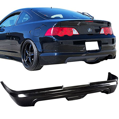 Rear Bumper Lip Fits 2002-2004 Acura RSX | Unpainted Black PU Rear Splitter Spoiler Valance Chin Diffuser Body Kit by IKON MOTORSPORTS | 2003