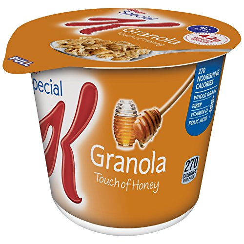 Special K Kellogg's Granola, Breakfast Cereal in a Cup, Touch of Honey, Bulk Size, 12 count (Pack of 12, 2.5 oz ()