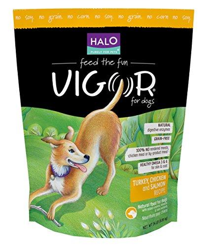 Halo Vigor Chicken Salmon Dog Grain Free Turkey, 14-Pound