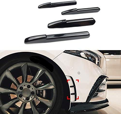 No logo 4Pcs for Benz A-Klasse W177 AMG A180 A200 A250 A35 2019 Front Side Auto Flick-Nebel-Lampen Entl/üfterelement Abdeckung Trim Aufkleber Zubeh/ör
