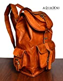 ADIMANI Vintage Handmade Travel Distressed Satchel Leather Backpack/Rucksack Shoulder Bag For Women 16 inche