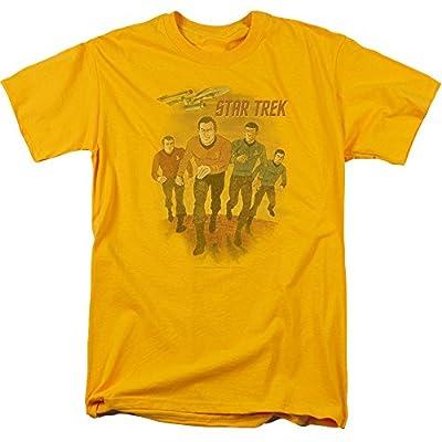 Star Trek Animated Mens Short Sleeve Shirt GOLD 4X