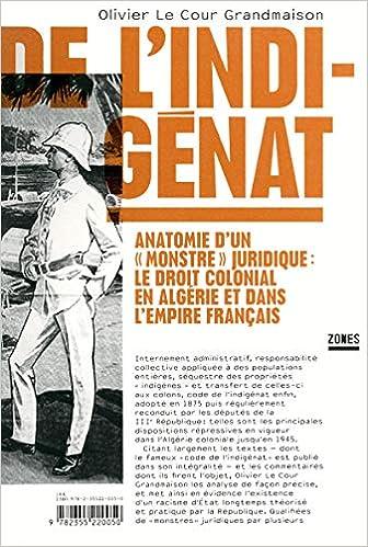 Amazon Fr De L Indigenat Olivier Le Cour Grandmaison Livres