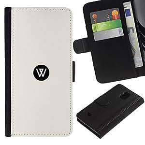 All Phone Most Case / Oferta Especial Cáscara Funda de cuero Monedero Cubierta de proteccion Caso / Wallet Case for Samsung Galaxy S5 Mini, SM-G800 // W dot