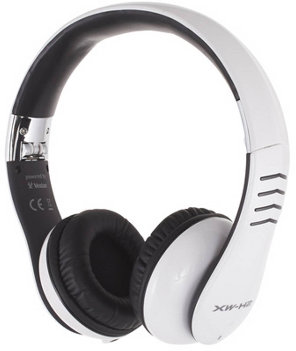 Casio XW-H2 Foldable DJ Headphones - White/Grey XWH2