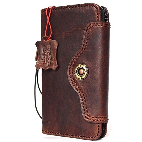 Genuine natural real Leather Case for Samsung Galaxy S8 plus Book Wallet Luxury Cover S Handmade Retro Id cards slots s 8 brown metal closure daviscase