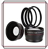 BlueTech 2.5x Telephoto + 0.43x Wide Angle w/ Macro Close-Up Attachment Conversion Lenses (Compatible with 49mm, 52mm, 55mm 58mm lens thread) For Canon, Carl Zeiss, Fuji, Fujifilm, Nikon, Panasonic, Pentax, Olympus, Samsung, Sony, Sigma, Tamron, Tokina, L