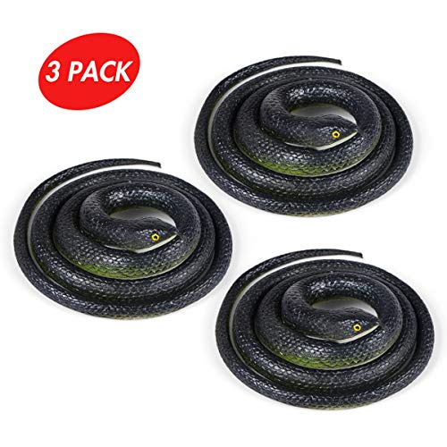 Snake Halloween - Aooba 3 Pieces Large Rubber Snakes