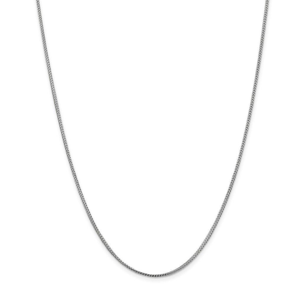 Top 10 Jewelry Gift 14k WG 1.0mm Franco Chain