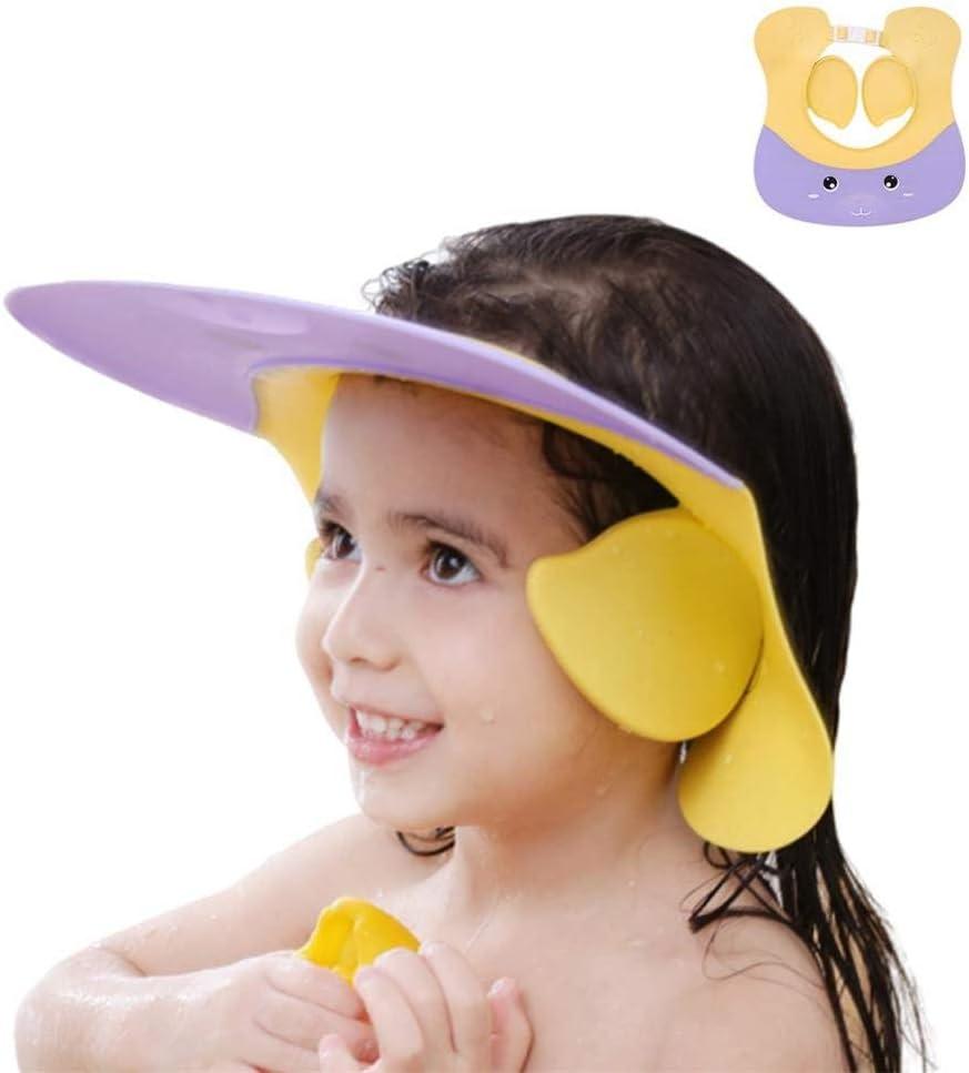 Baby Badekappe knowledgi Baby Shampoo Schutz Verstellbarer Duschhaube Kinder Badekappe Baby Shampoo Cap Augenschutz Dusche Badeschutz f/ür Baby Kinder Badekappe Baby f/ür Babypflege
