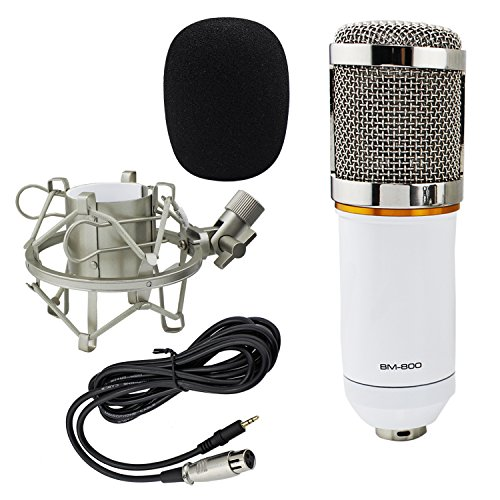 Ocr-TM-Professional-Audio-Condenser-Microphone-Music-Recording-Equipment-with-Shock-Mount3-Pin-XLR-Mic-Cable-White
