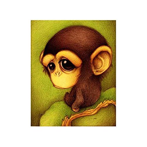 Acamifashion Cute Animal 5D DIY Diamond Painting Embroidery Craft Home Room Wall DecorMonkey Diamond Monkey