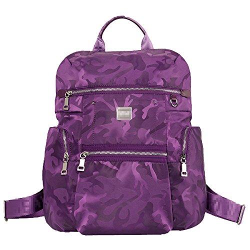 Nueva Gran Capacidad De Turismo Bolsa De Hombro Doble Mujer Al Aire Libre Oxford Mochila De Viaje Mochila De Viaje Purple