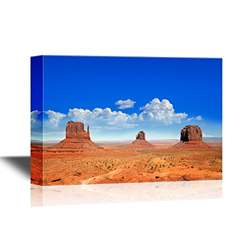 Monument Valley Halloween (wall26 - USA Landmarks Canvas Wall Art - The Famous Buttes of Monument Valley, Utah, USA - Gallery Wrap Modern Home Decor | Ready to Hang - 24x36)