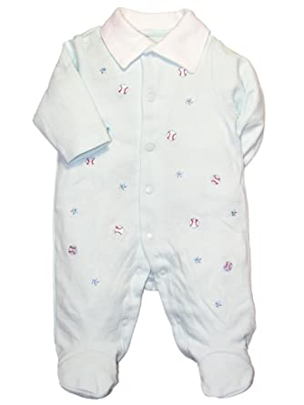 83c6c0290afe Amazon.com  Baby Boy Baseball Footie Sleeper by Little Me - Blue ...