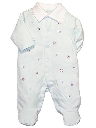 8c369bad6 Amazon.com  Baby Boy Baseball Footie Sleeper by Little Me - Blue ...