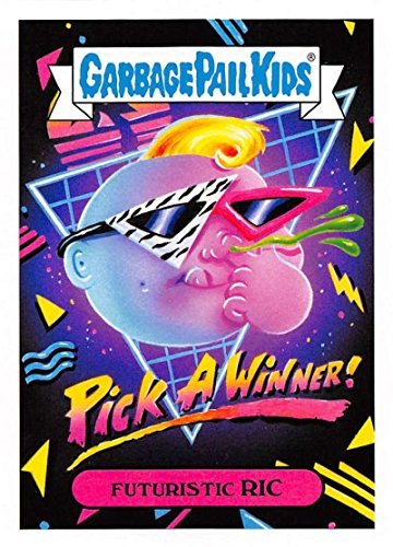 2018 Topps Garbage Pail Kids Series 1 We Hate the 80s Trading Cards 80s CULTURE Black #2B FUTURISTIC - Futuristic 80s