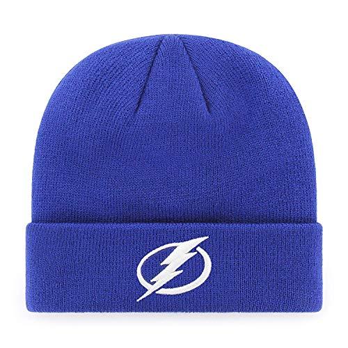 - '47 Tampa Bay Lightning Royal Blue Cuff Beanie Hat - NHL Cuffed Winter Knit Toque Cap