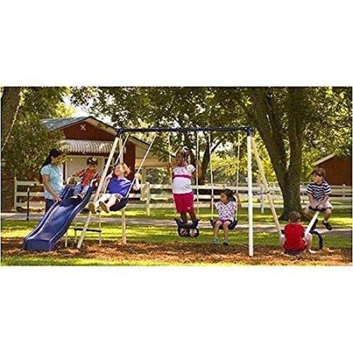 Flexible Flyer Triple Fun II Metal Swing - Flyer Backyard