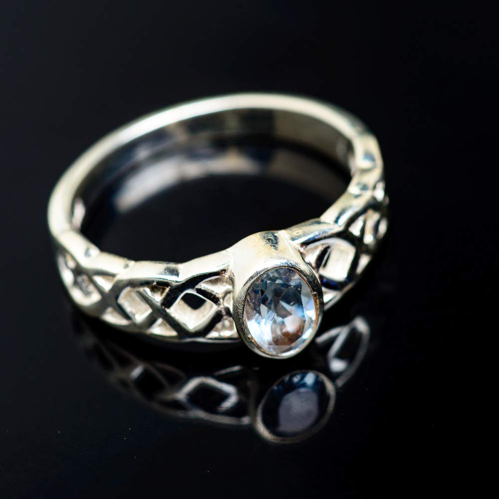 Vintage RING947021 Bohemian Ana Silver Co Blue Topaz Ring Size 6.5 925 Sterling Silver - Handmade Jewelry
