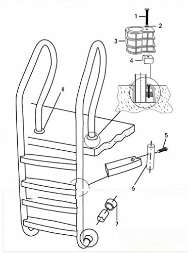 4 4 Step Ladder For In Ground Swimming Pools
