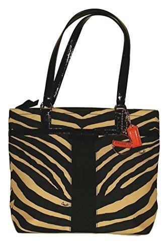 Coach Signature Zebra Print Shoulder