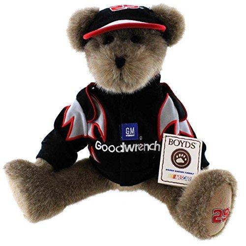 Boyds Bears Plush KEVIN HARVICK JACKET & CAP 919431 Nascar #29 Bear Racing