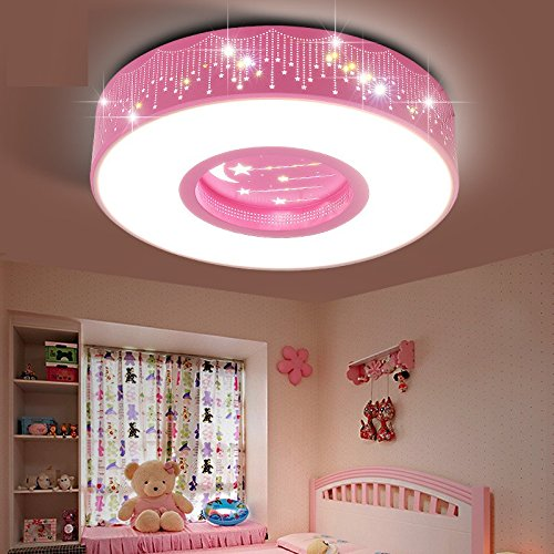 Malovecf Pink Children Room Lamp Girl Star Princess Round 50 CM ...