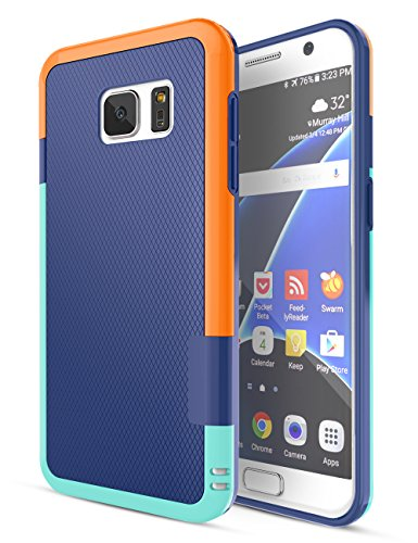 - Galaxy S7 Case, TILL(TM) Ultra Slim 3 Color Hybrid Dual Layer Shockproof Case [Extra Front Raised Lip] Soft TPU & Hard PC Bumper Protective Case Cover for Samsung Galaxy S7 S VII G930 GS7 [Blue]