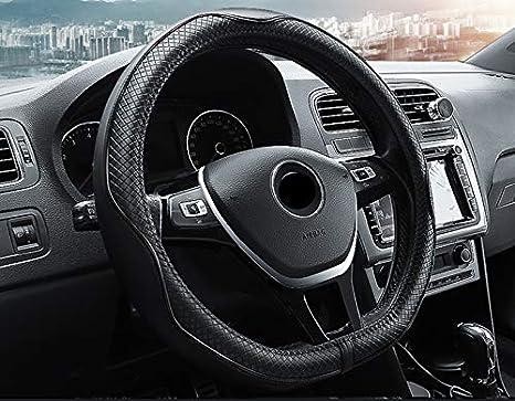 Vera Pelle 15 HCMAX D Tipo Veicolo Coprivolante Auto Protezione del Volante D-Shape Diametro 38 cm