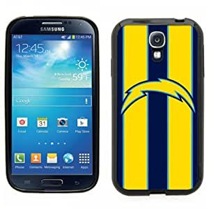 Samsung Galaxy S4 SIIII Black Rubber Silicone Case - San Diego Chargers Football Bolt