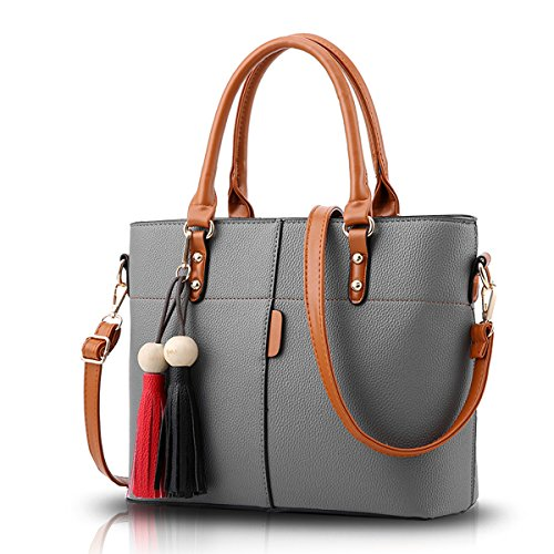 cross handbag shoulder tassel wallet gray handbags Women fashion retro diagonal Dark stitching Tisdaini pack B0Awp5xnq