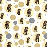 Chocolate Lab Labrador Puppy Dog Crown Necklace Premium Gift Wrap Wrapping Paper Roll