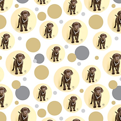 Wrapping Paper Chocolate (GRAPHICS & MORE Chocolate Lab Labrador Puppy Dog Crown Necklace Premium Gift Wrap Wrapping Paper Roll)