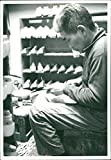 Vintage photo of Manufacture of shoes and other leather goods is an employment as the Japanese minority group burakumin is referred to