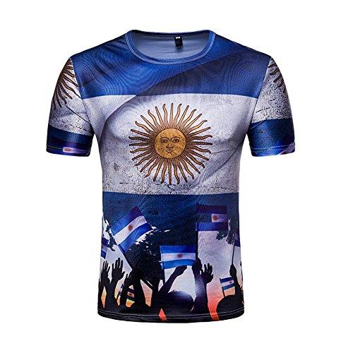 望む細心のカリキュラムユナイテッドユニセックス2018ロシアワールドカップサッカースペインプリント半袖ファンTシャツ