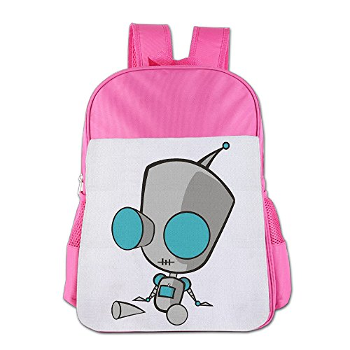 Invader Zim Cosplay Costumes (ElishaJ Boys/Girls Invader Animezim Doom Children Schoolbag For 4-15 Years Old Pink)