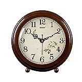 HAOFAY clock - Retro Vintage Mantel/European Modern Desktop Silent Quartz Clock Desk and Shelf Clock
