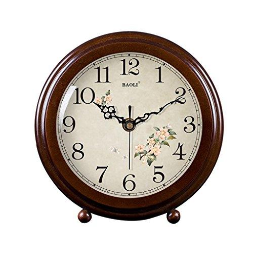 HAOFAY clock - Retro Vintage Mantel/European Modern Desktop Silent Quartz Clock Desk and Shelf Clock by HAOFAY (Image #4)