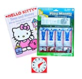 Learn About Time And Money Teaching Set – Bundle of 3 Items – Hello Kitty Book, Cash Drawer, Clock