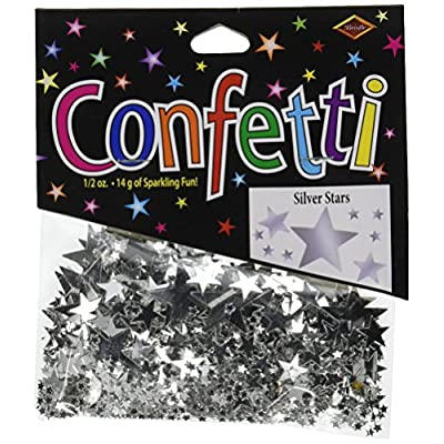 Beistle CN131 Stars Confetti Tableware Decorations, Birthday Party Supplies, 0.5 Ounces, Silver: Childrens Party Confetti: Kitchen & Dining
